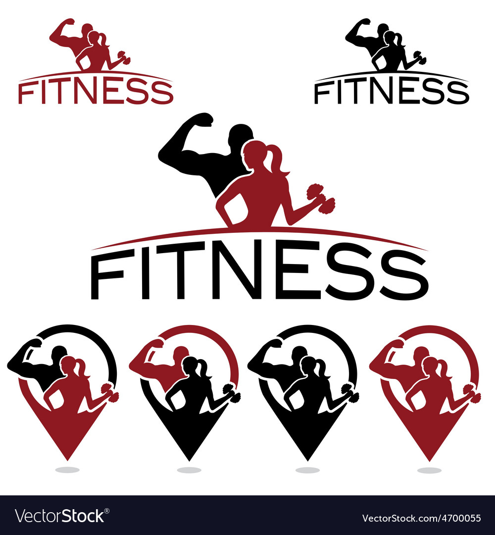 Man and woman of fitness silhouette character and vector | Price: 1 Credit (USD $1)