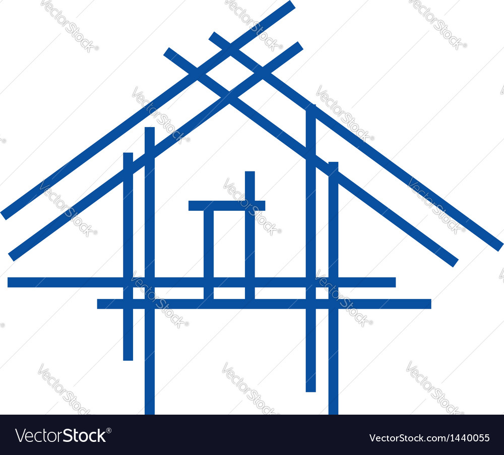 Real estate house logo vector | Price: 1 Credit (USD $1)