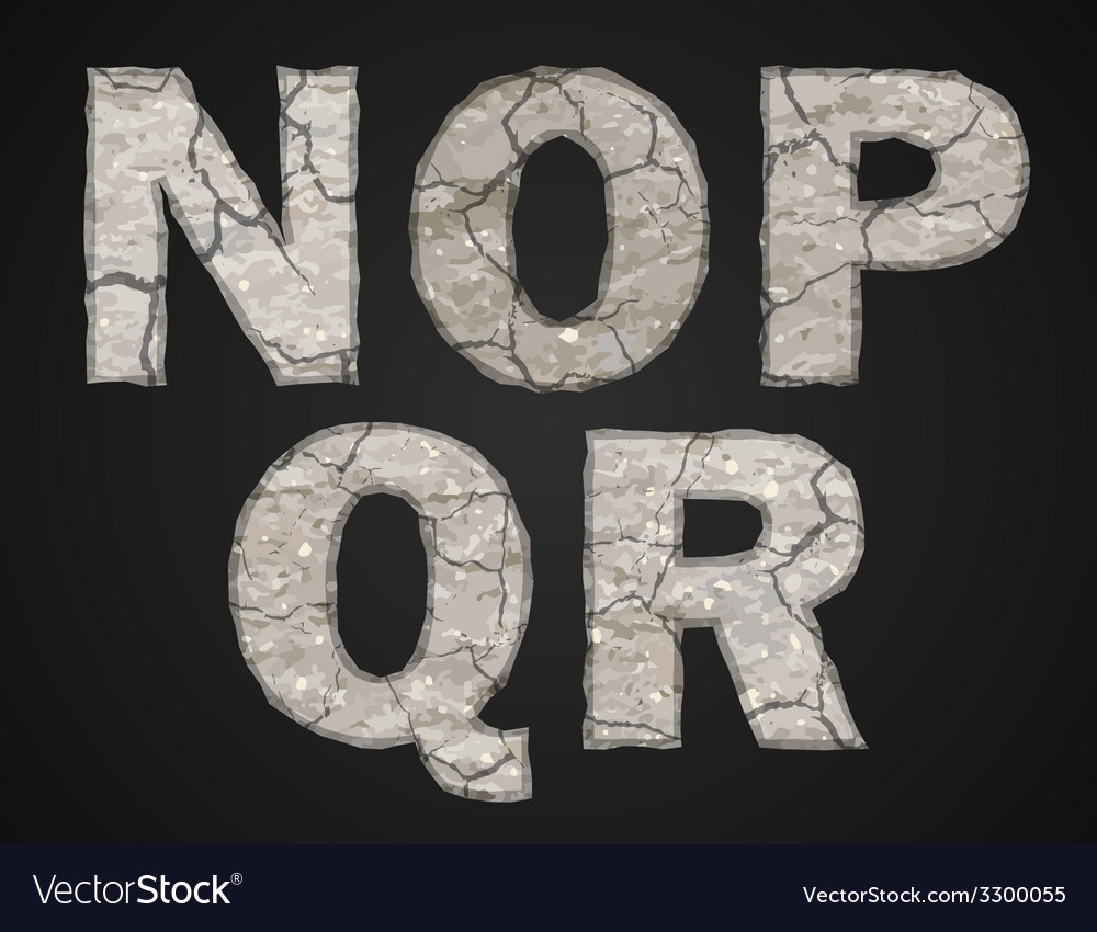 Stone letters set vector | Price: 1 Credit (USD $1)