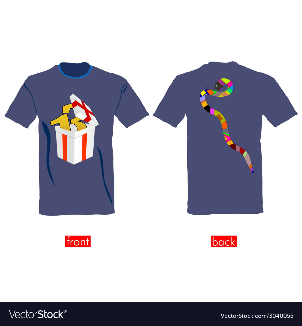 T-shirts with snake on it vector | Price: 1 Credit (USD $1)