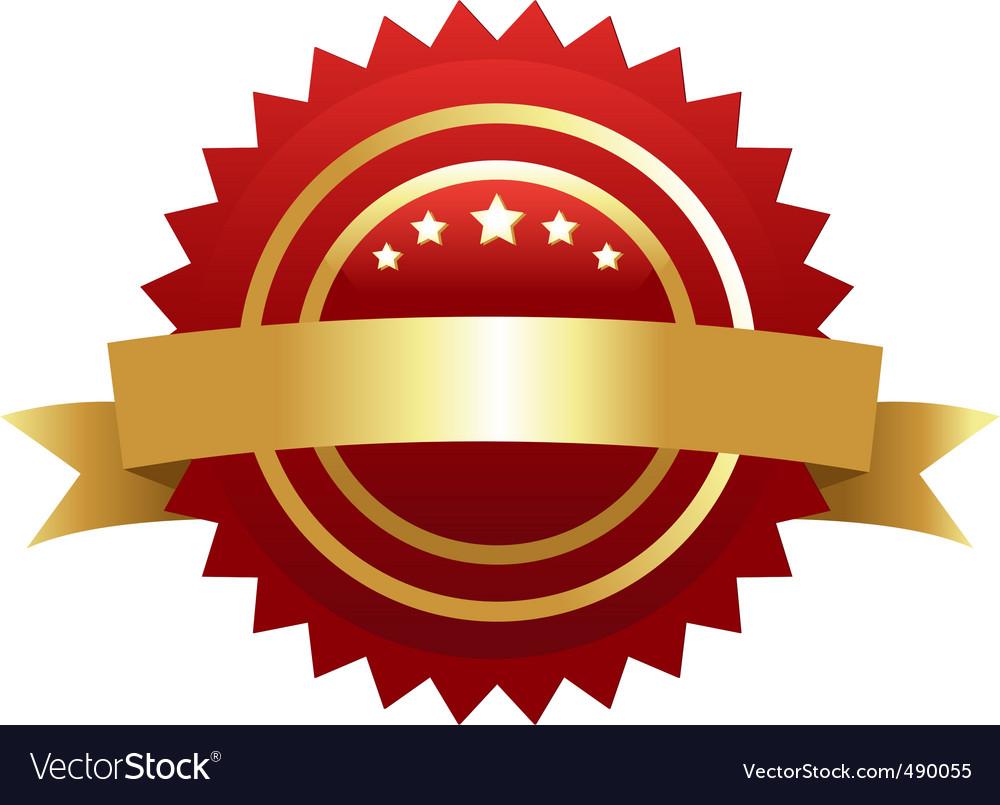 Warranty guarantee gold seal vector | Price: 1 Credit (USD $1)