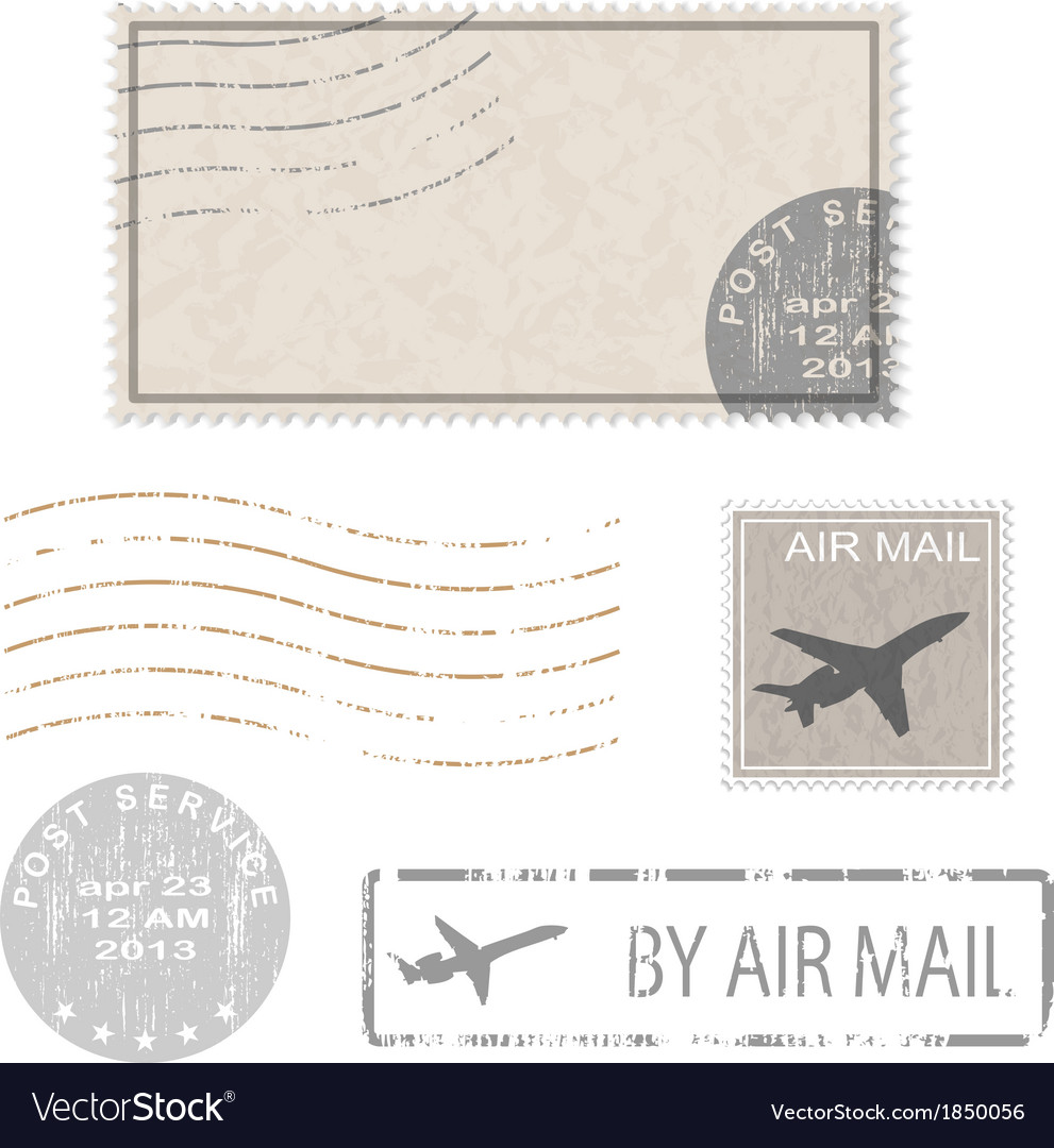 Air mail stam vector | Price: 1 Credit (USD $1)