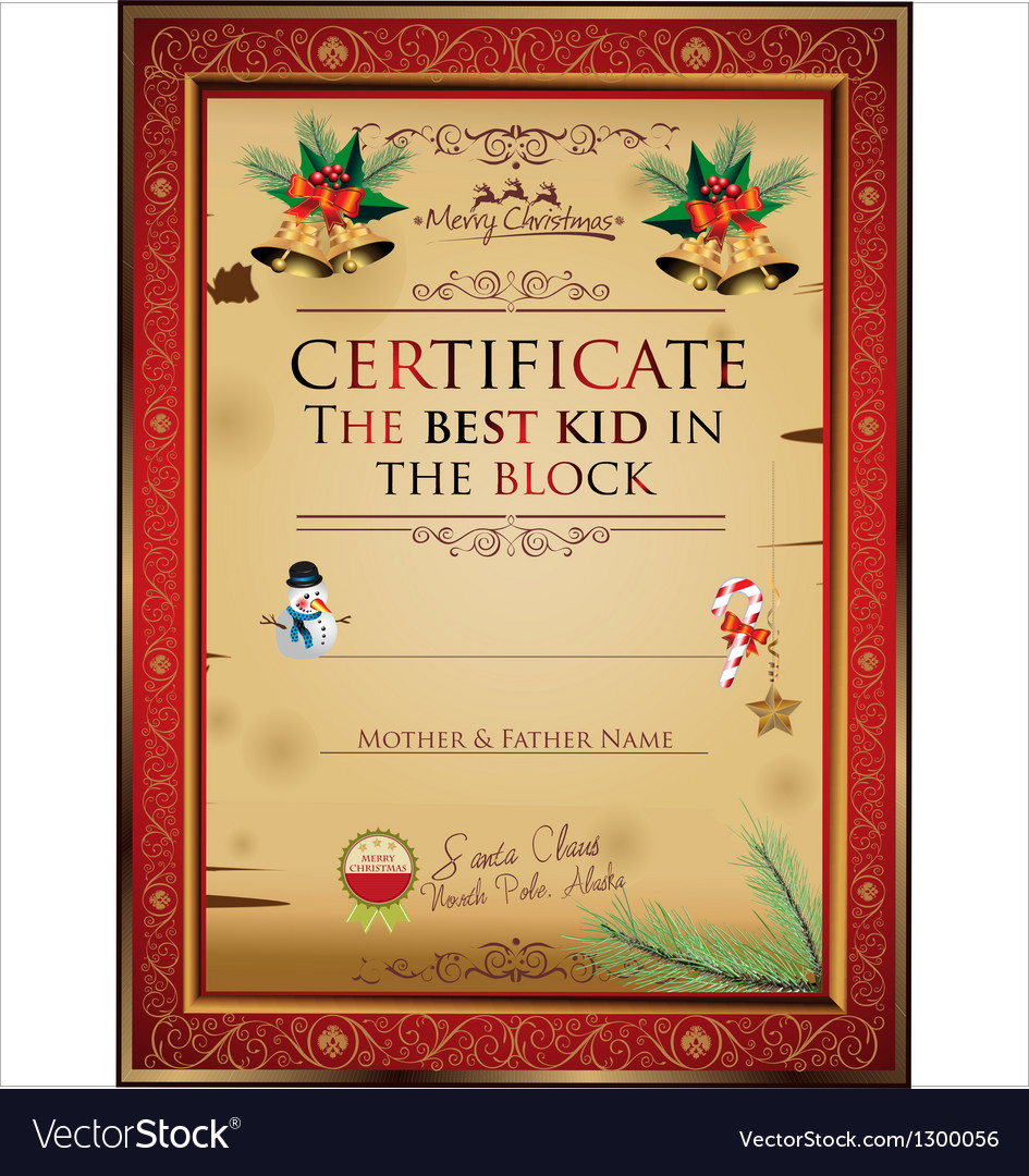Certificate the best kid in the block vector | Price: 1 Credit (USD $1)