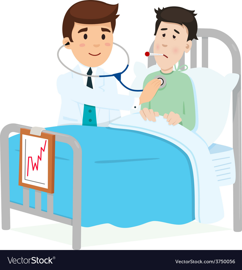 Doctor caring for a patient vector | Price: 1 Credit (USD $1)