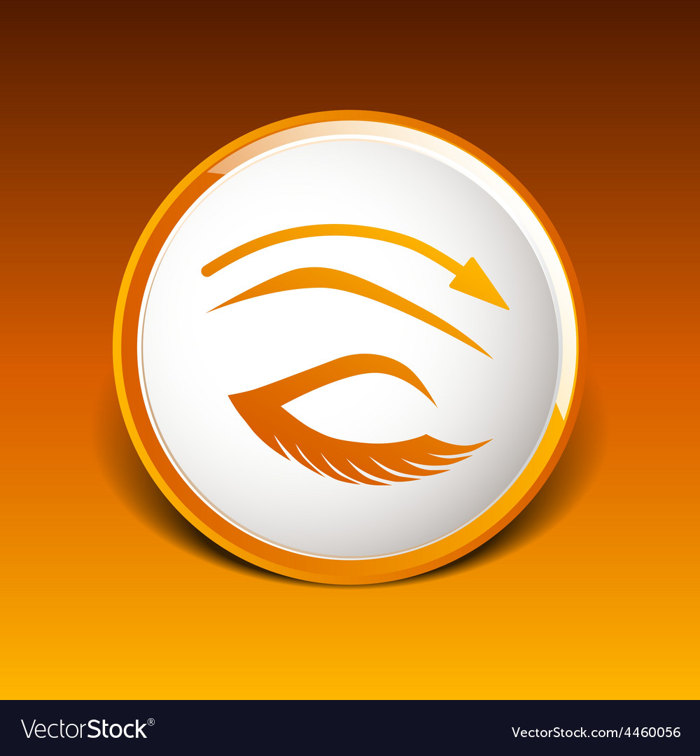 Eyelash pinching eye icon makeup isolated glamour vector | Price: 1 Credit (USD $1)
