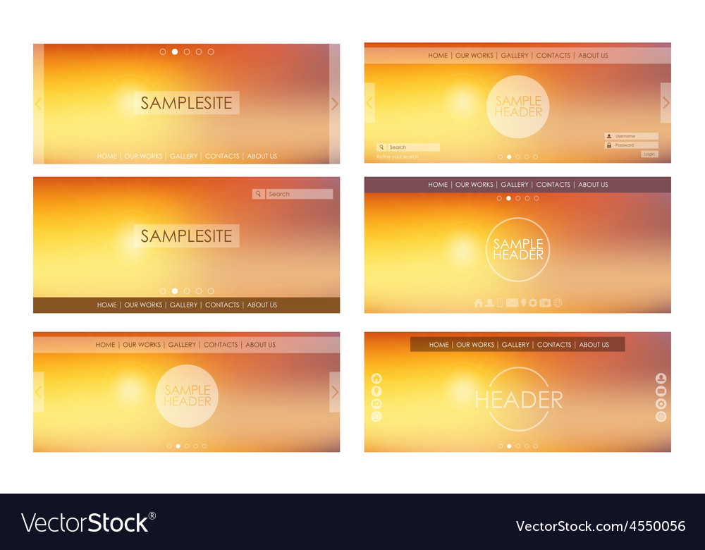 Header design for web site vector | Price: 1 Credit (USD $1)