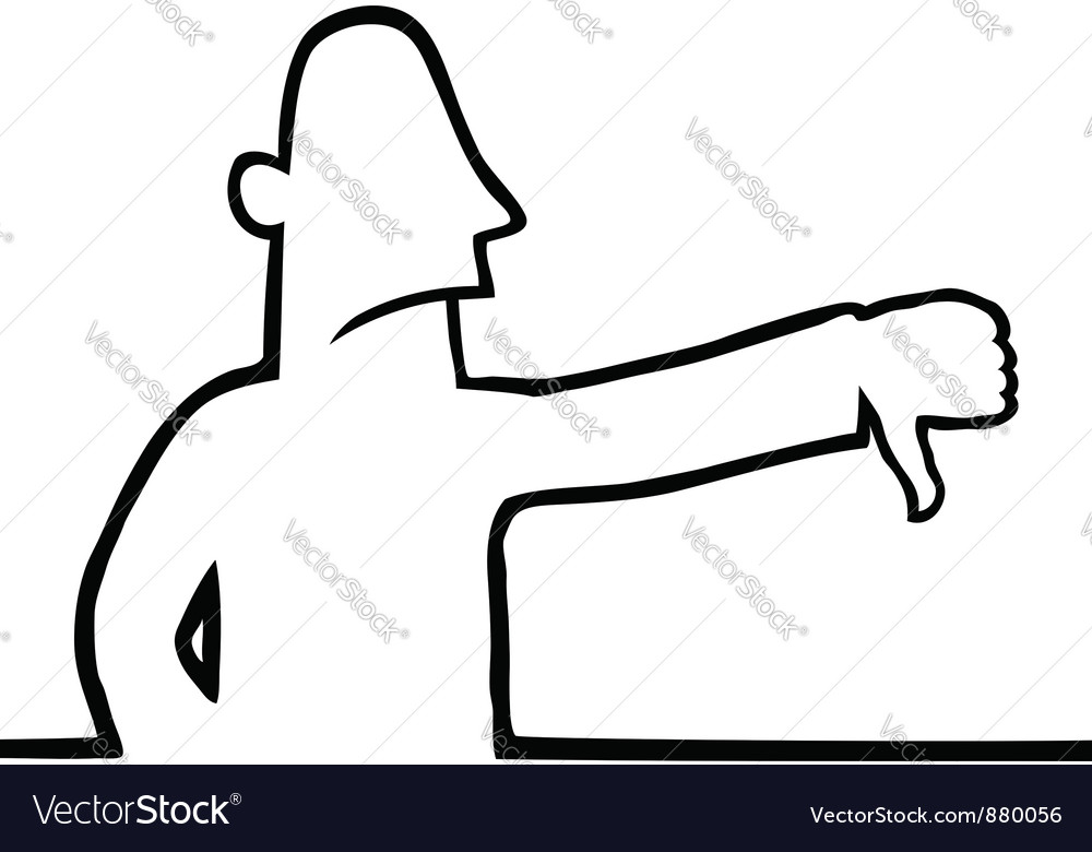 Man with thumbs down vector | Price: 1 Credit (USD $1)
