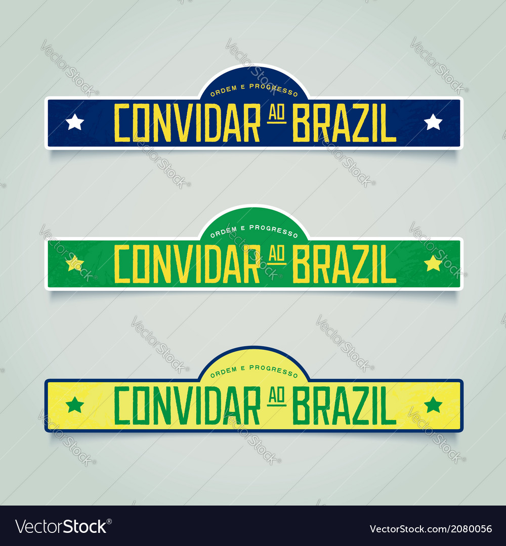 Retro labels - welcome to brazil vector | Price: 1 Credit (USD $1)