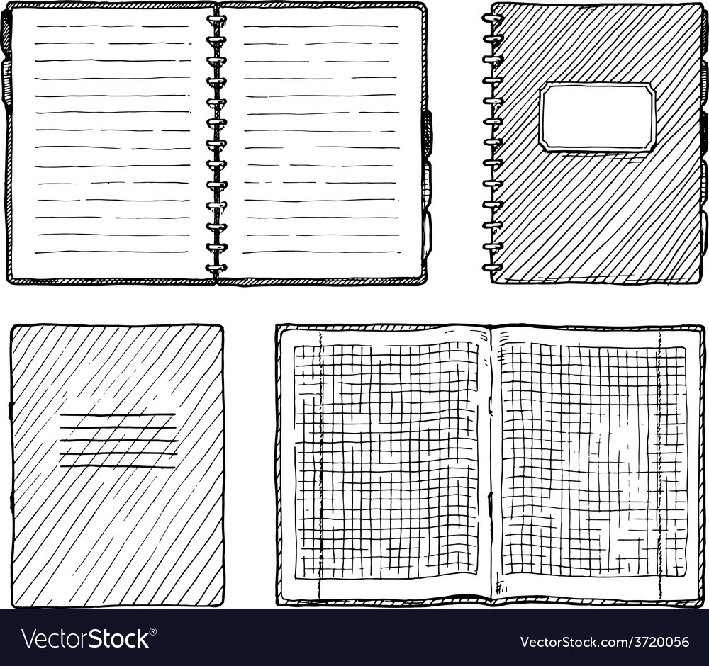 Set of notebooks vector | Price: 1 Credit (USD $1)