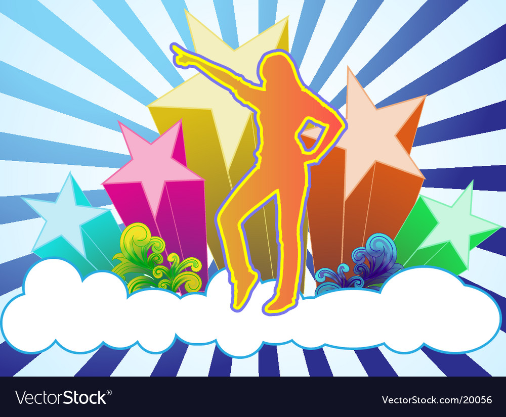 Sky dance vector | Price: 1 Credit (USD $1)