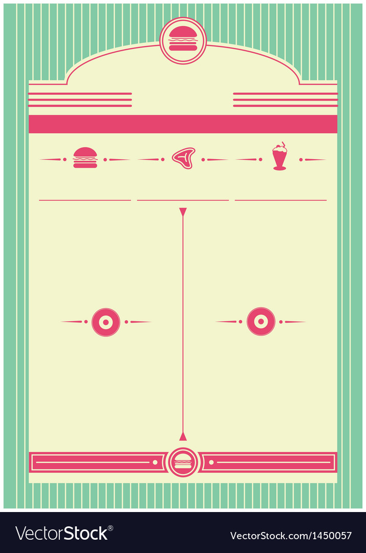 1950s diner inspired background and frame vector | Price: 1 Credit (USD $1)
