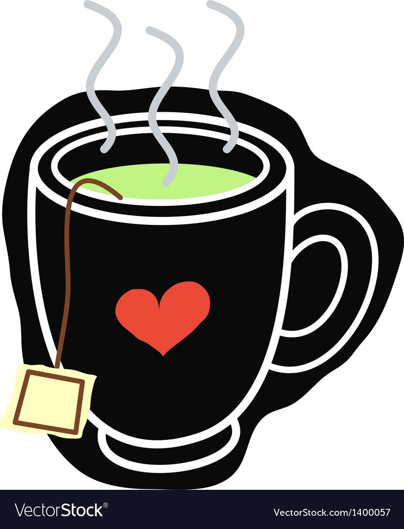 A cup of tea vector | Price: 1 Credit (USD $1)