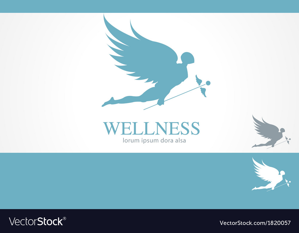 Angel wellness medical logo concept template vector | Price: 1 Credit (USD $1)