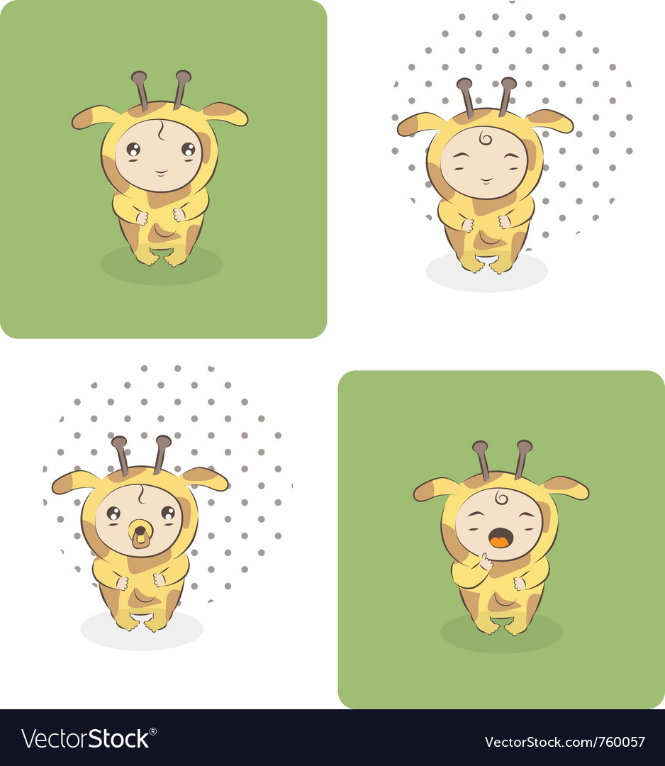 Baby giraffe vector | Price: 3 Credit (USD $3)