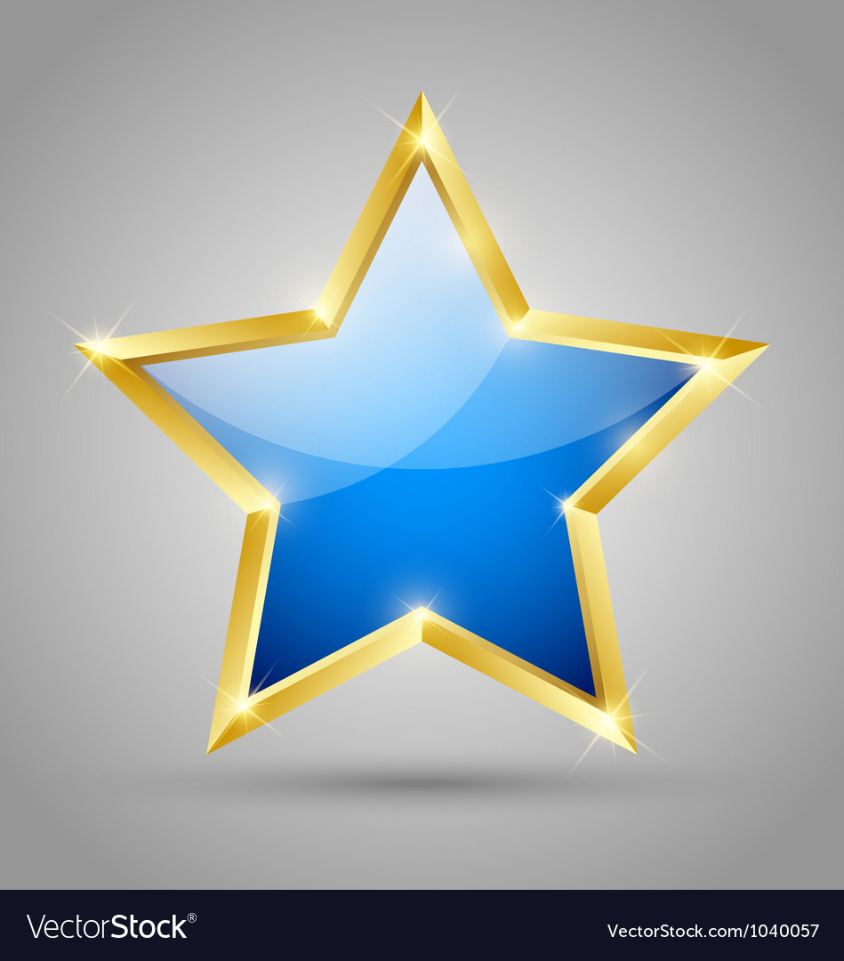 Blue glossy star vector | Price: 1 Credit (USD $1)