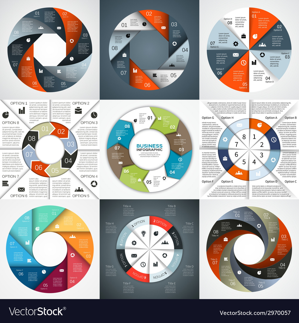 Circle arrows infographics set template for vector | Price: 1 Credit (USD $1)
