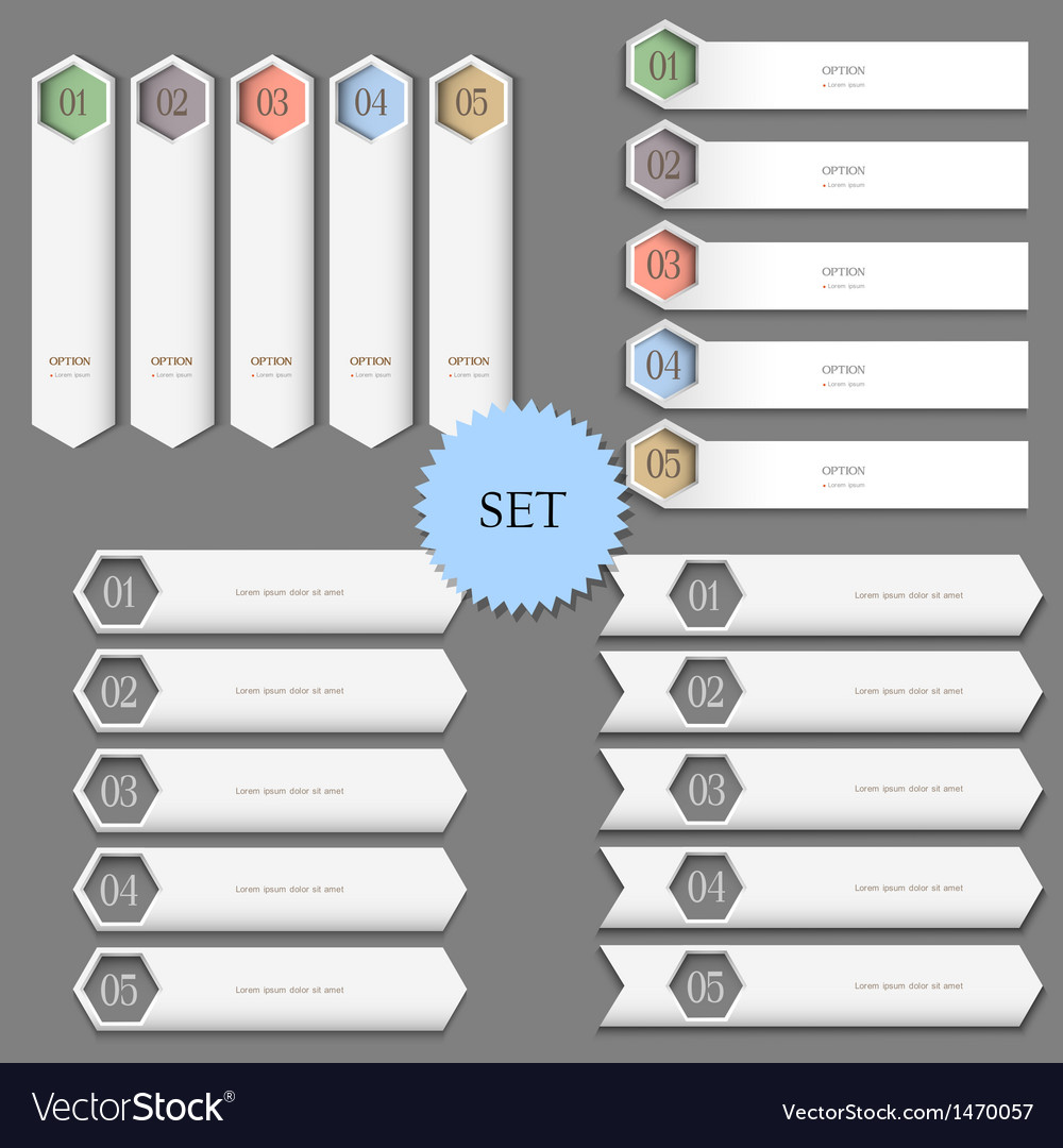 Design templates banners for infographics vector | Price: 1 Credit (USD $1)