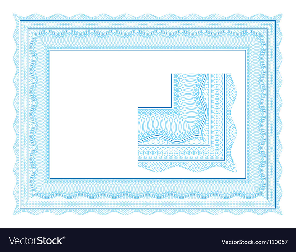 Guilloche border for diploma vector | Price: 1 Credit (USD $1)