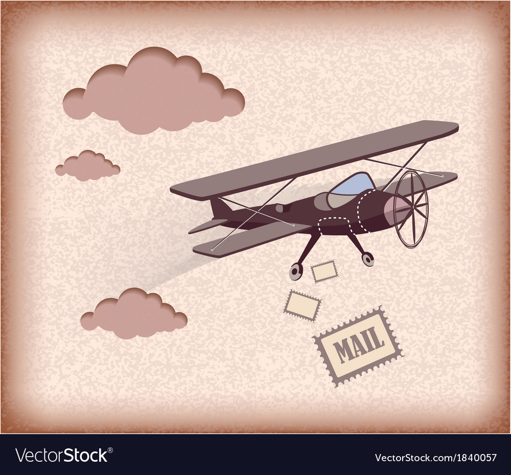 Retro airplane vector | Price: 1 Credit (USD $1)