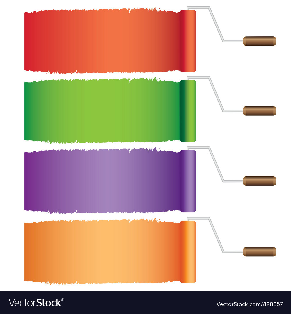 Rollers with colors vector | Price: 1 Credit (USD $1)