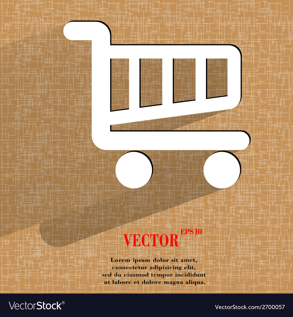 Shopping basket flat modern web design on a flat vector | Price: 1 Credit (USD $1)
