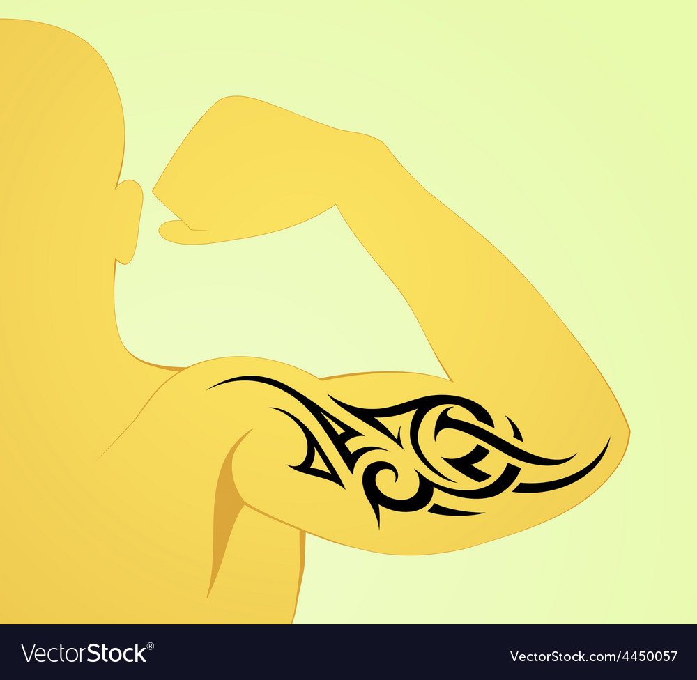 Tribal arm tattoo pattern on male body vector | Price: 1 Credit (USD $1)