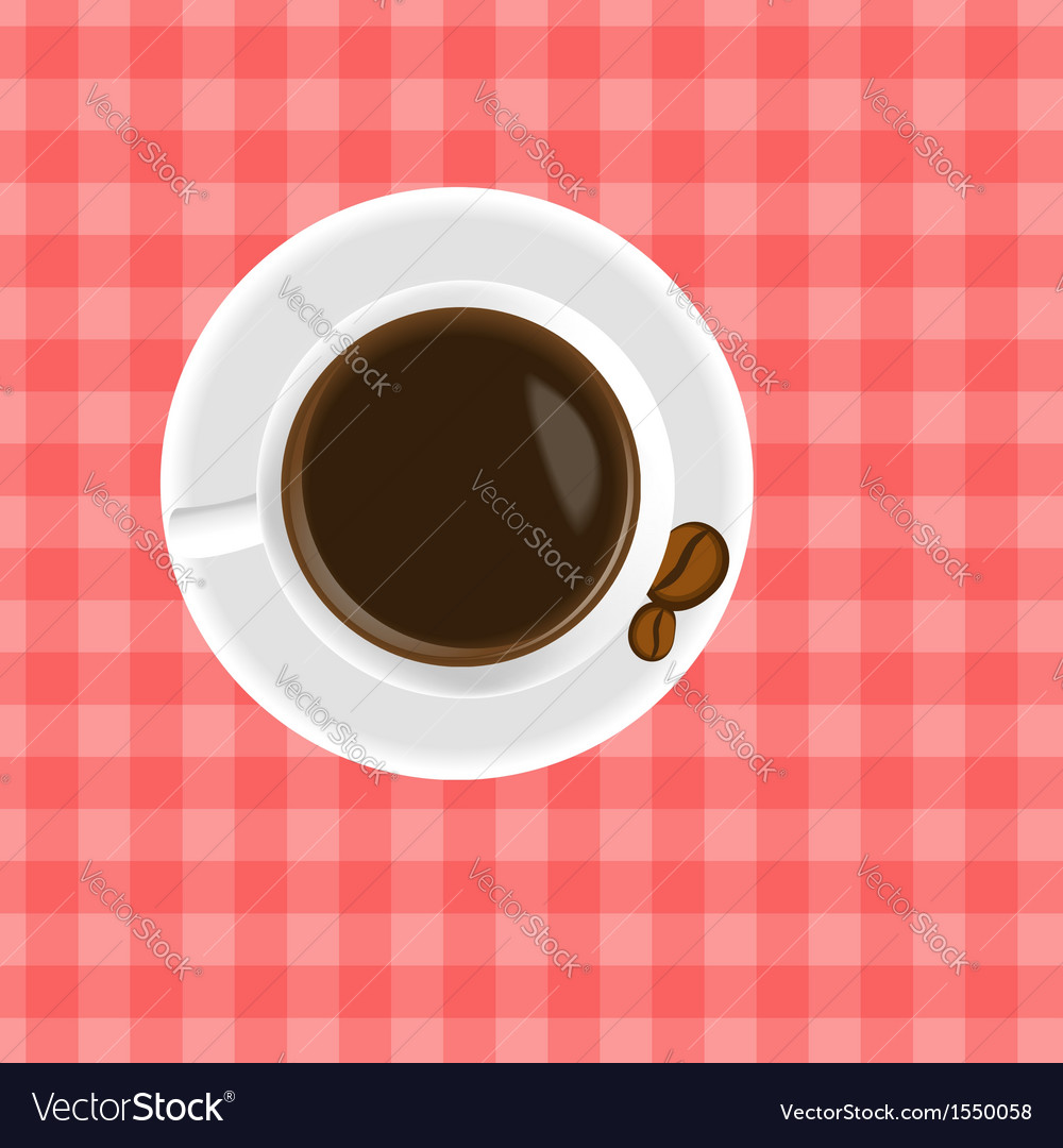 A cup of coffee on the table vector | Price: 1 Credit (USD $1)