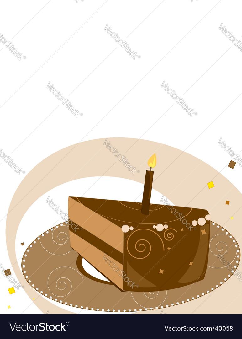 Birthday cake slice vector | Price: 1 Credit (USD $1)
