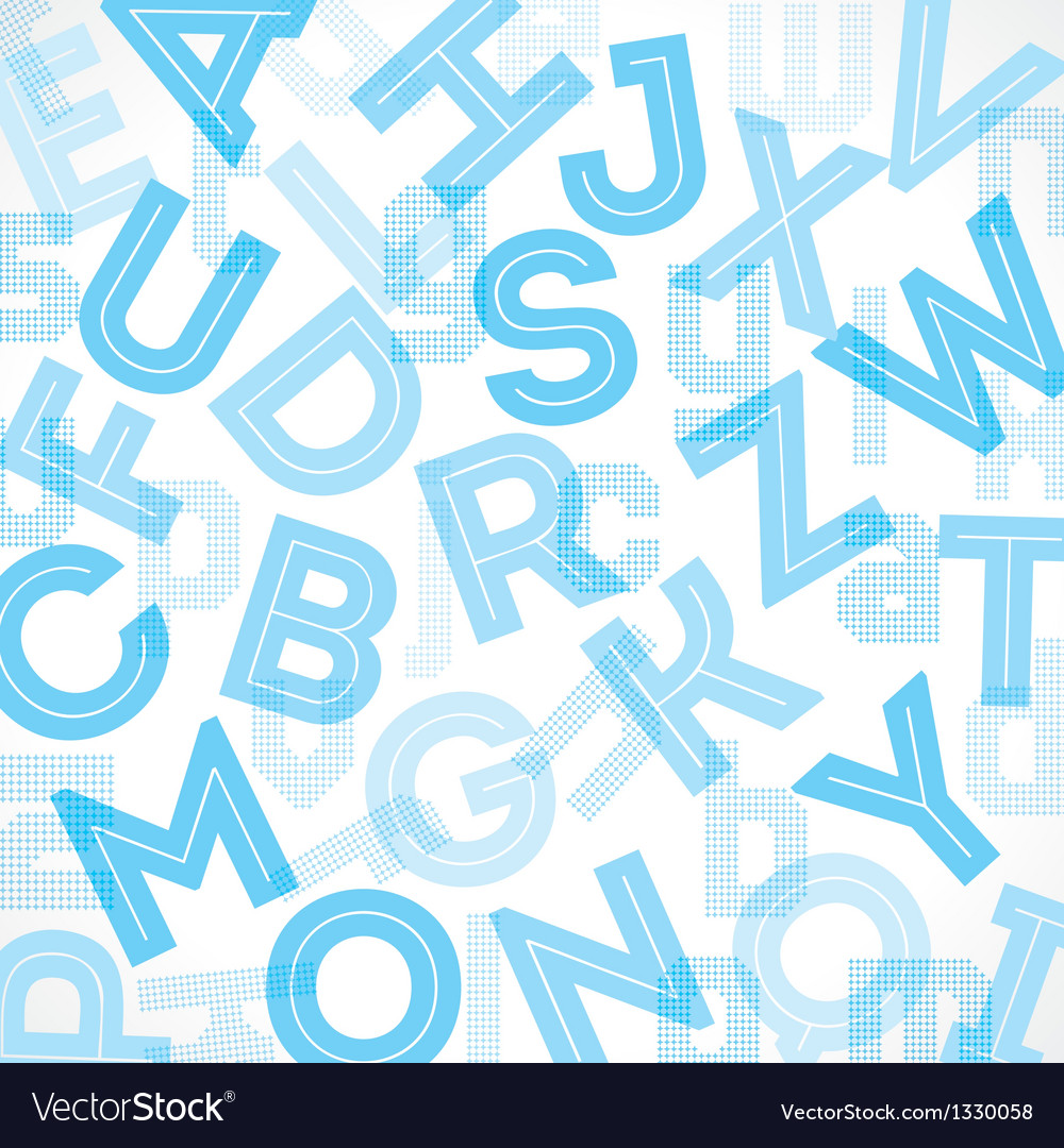 Blue alphabet background vector | Price: 1 Credit (USD $1)