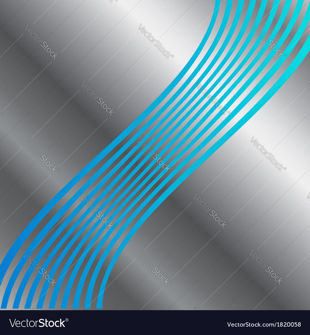 Blue metal wave background vector | Price: 1 Credit (USD $1)