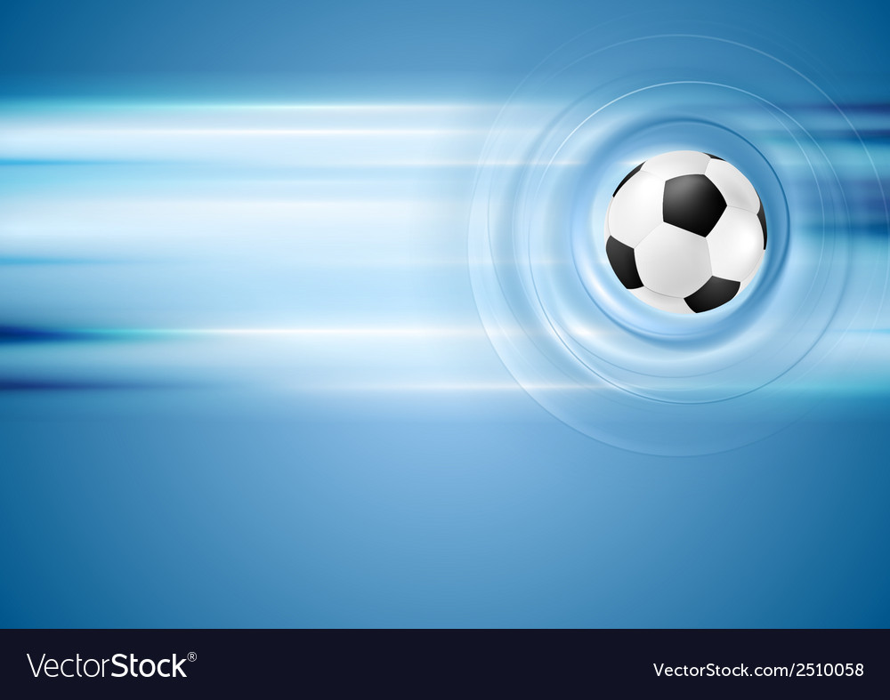 Bright blue football background vector | Price: 1 Credit (USD $1)