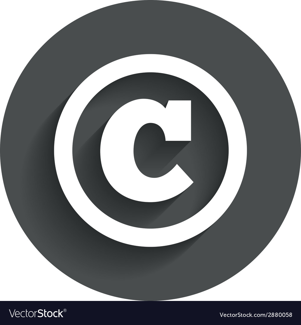 Copyright sign icon copyright button vector | Price: 1 Credit (USD $1)