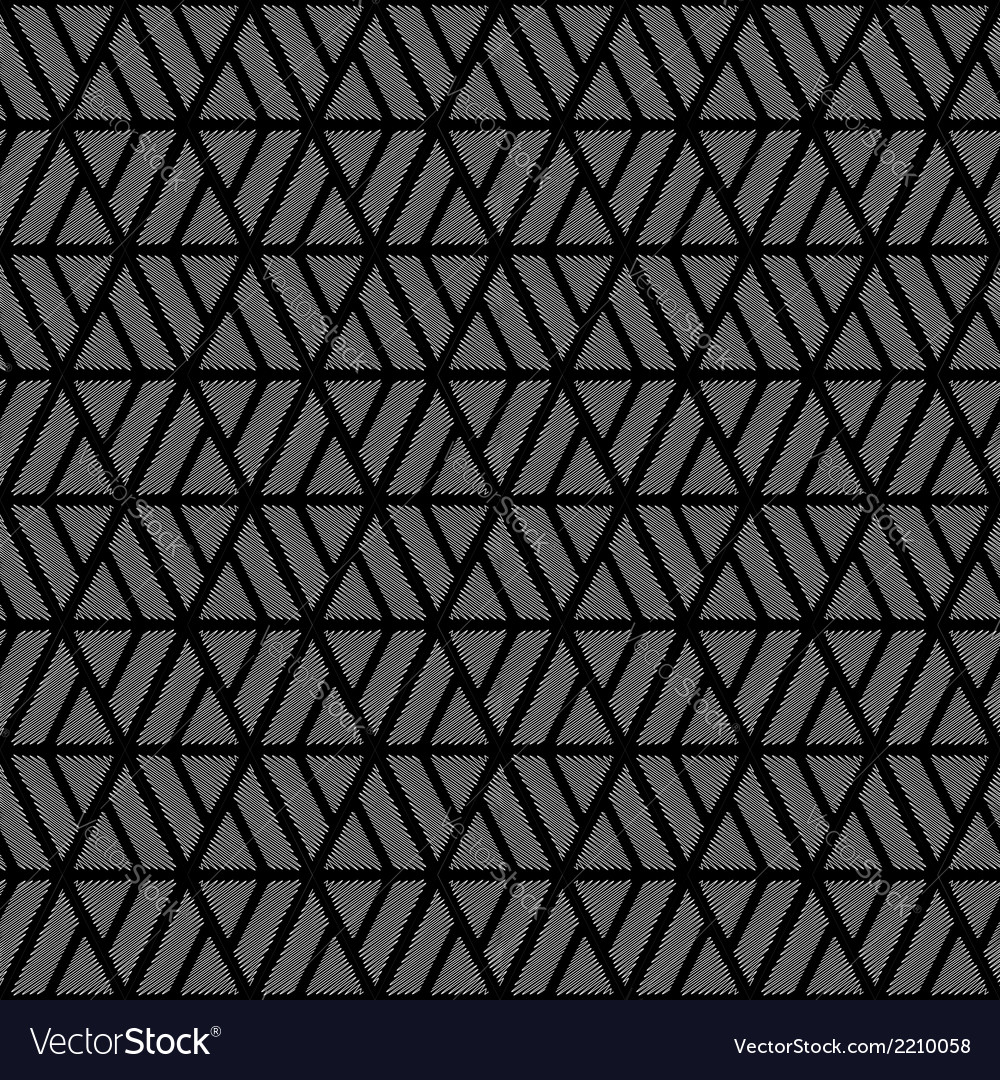 Design seamless monochrome diamond pattern vector | Price: 1 Credit (USD $1)