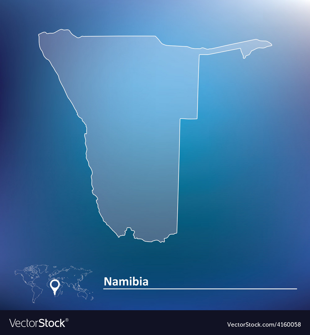 Map of namibia vector | Price: 1 Credit (USD $1)