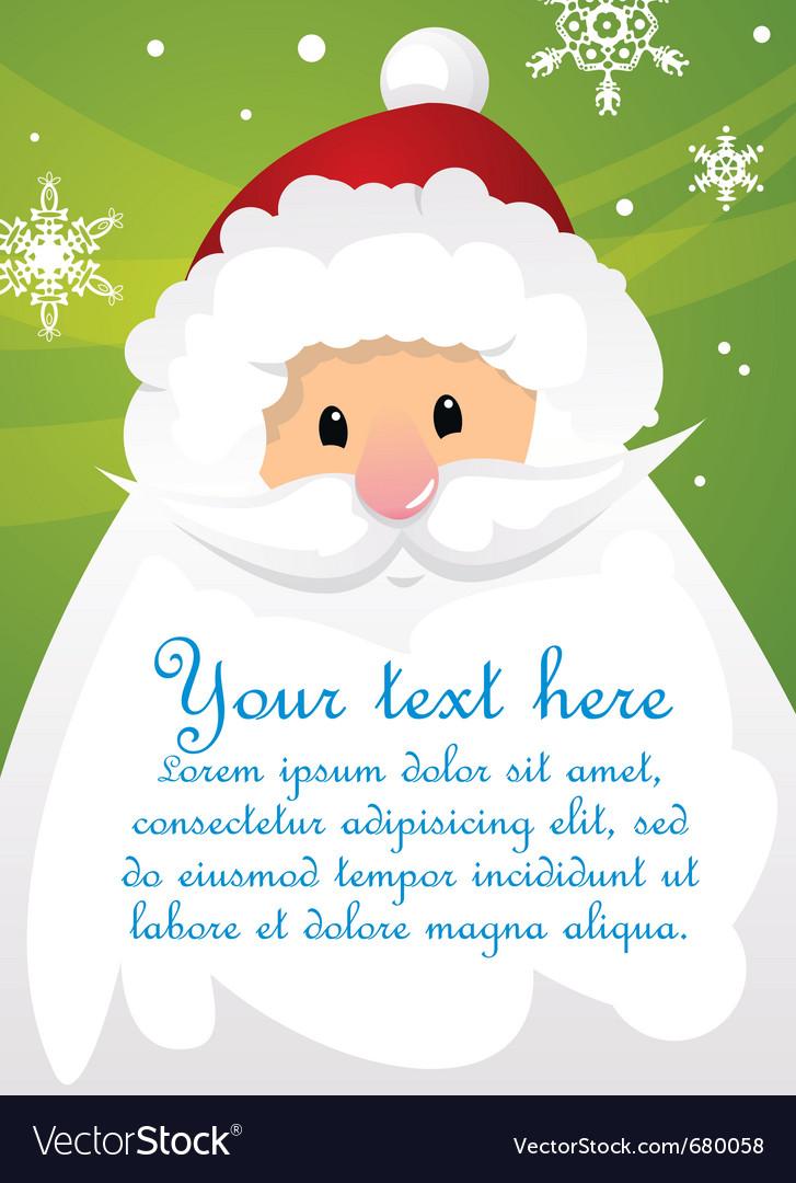 Santa claus poster vector | Price: 1 Credit (USD $1)