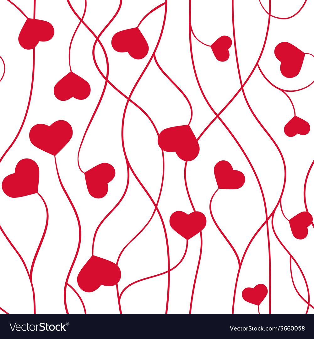 Seamless pattern hearts valentine symbol vector | Price: 1 Credit (USD $1)