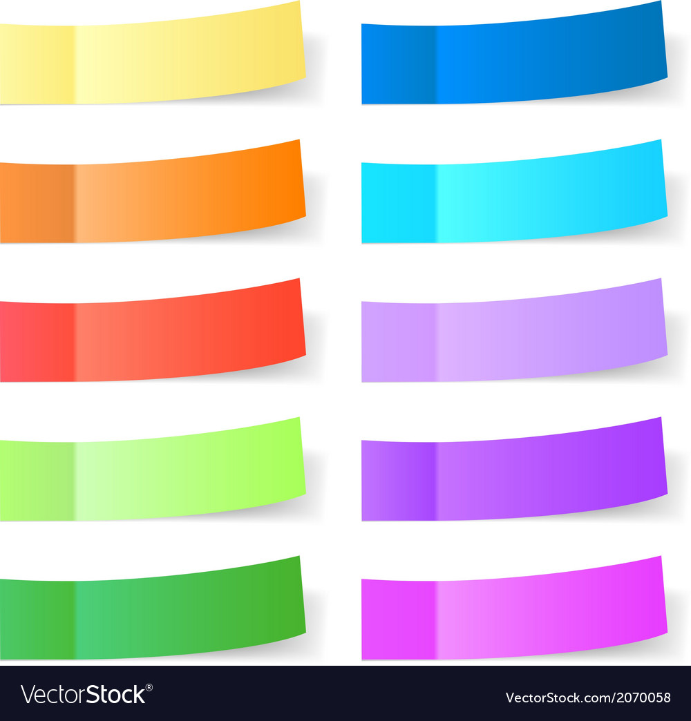 Sticky paper set vector | Price: 1 Credit (USD $1)