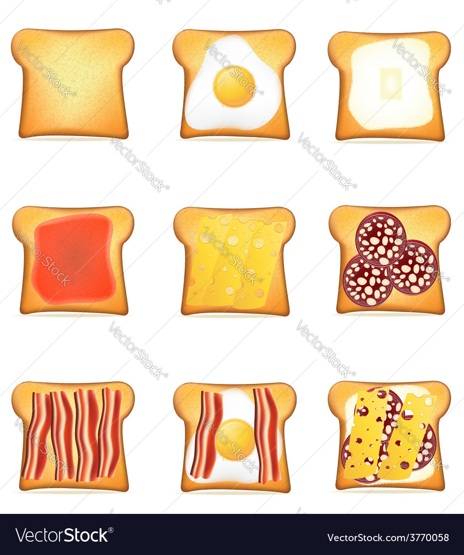 Toast 10 vector | Price: 1 Credit (USD $1)