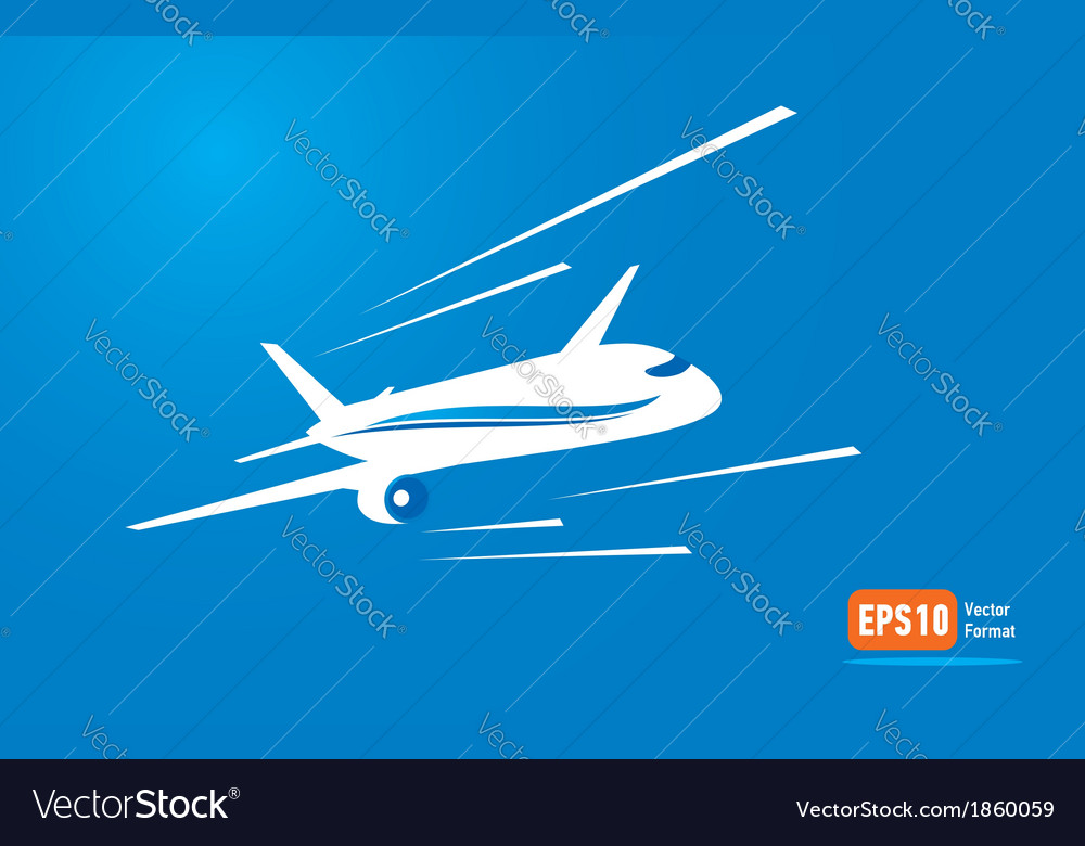 Airplane flight tickets air fly blue takeoff vector | Price: 1 Credit (USD $1)