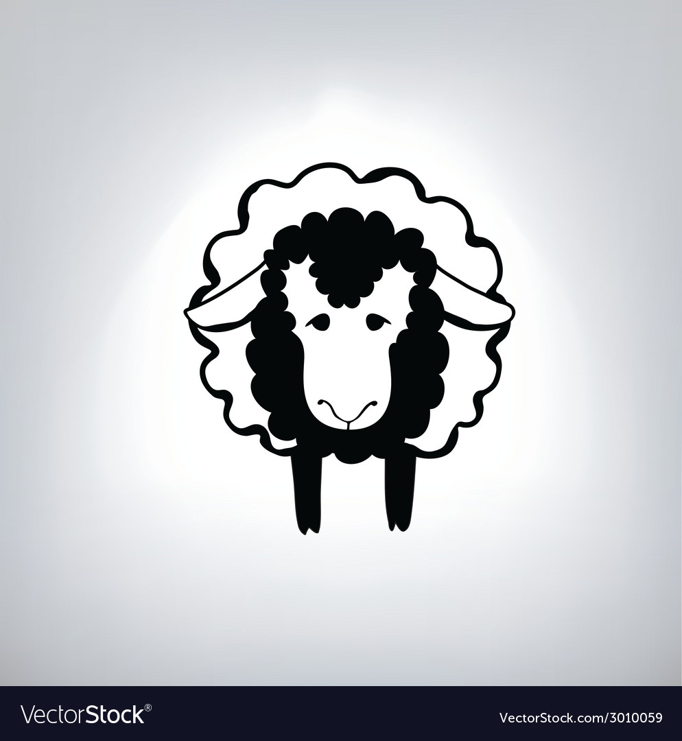 Black silhouette of sheep vector | Price: 1 Credit (USD $1)