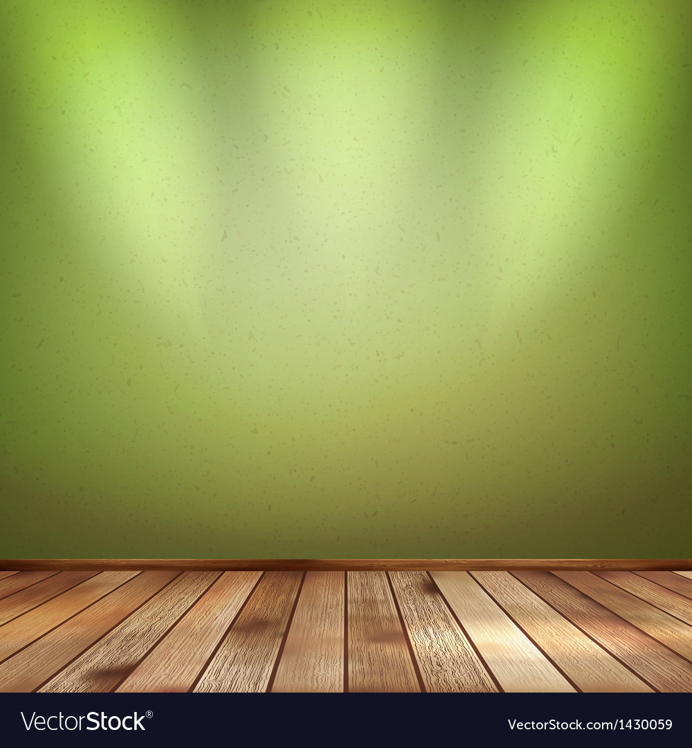 Empty interior with a green wall eps 10 vector | Price: 1 Credit (USD $1)