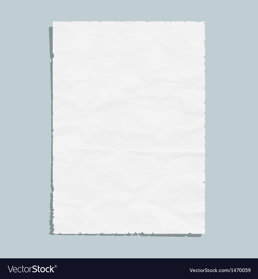 Empty white paper sheet vector | Price: 1 Credit (USD $1)