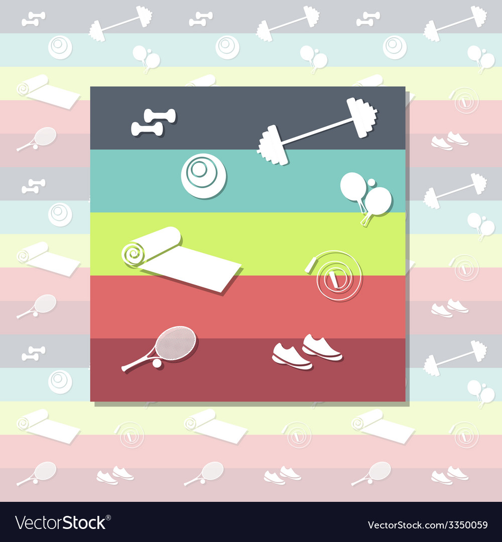 Fitness pattern vector | Price: 1 Credit (USD $1)