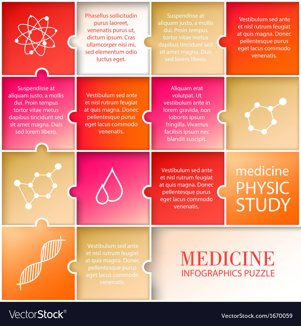 Flat medicine infographic design vector | Price: 1 Credit (USD $1)