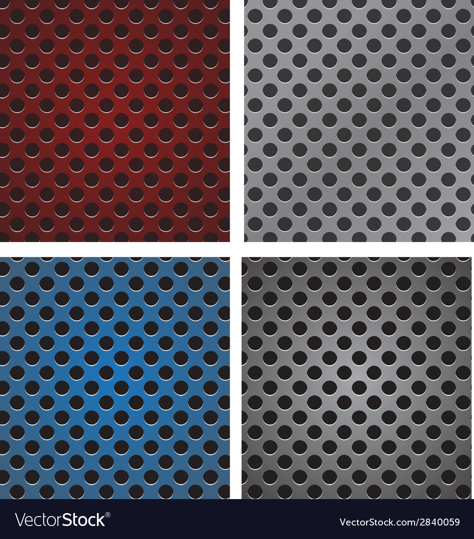Seamless circle perforated carbon speaker grill vector | Price: 1 Credit (USD $1)