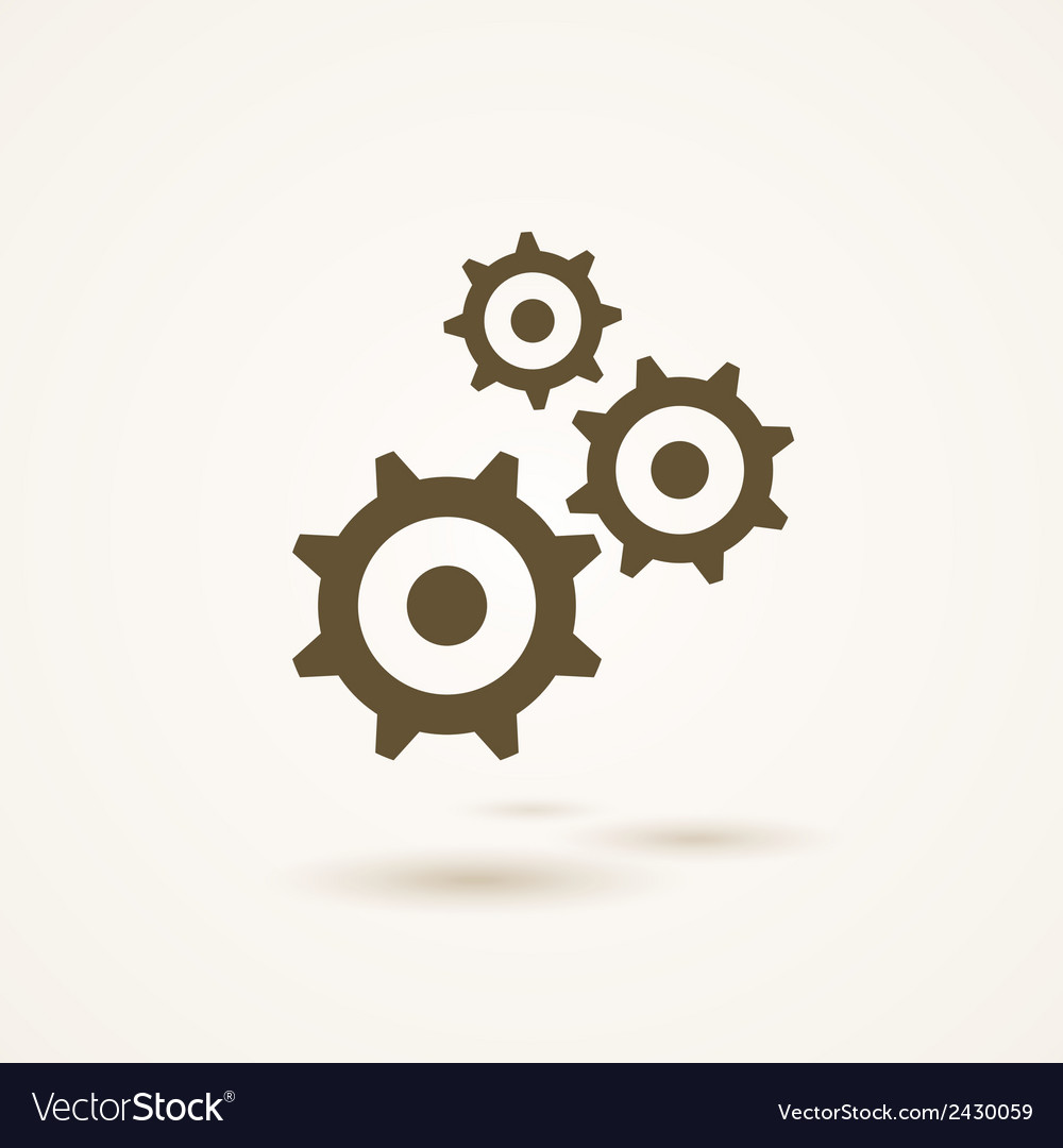 Set of three gears or cogs in different sizes vector | Price: 1 Credit (USD $1)