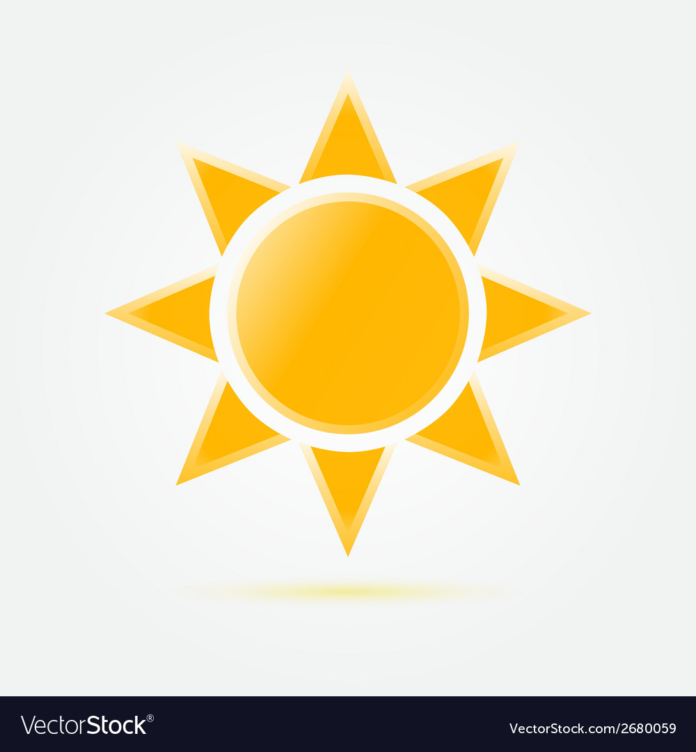 Yellow sun icon vector | Price: 1 Credit (USD $1)