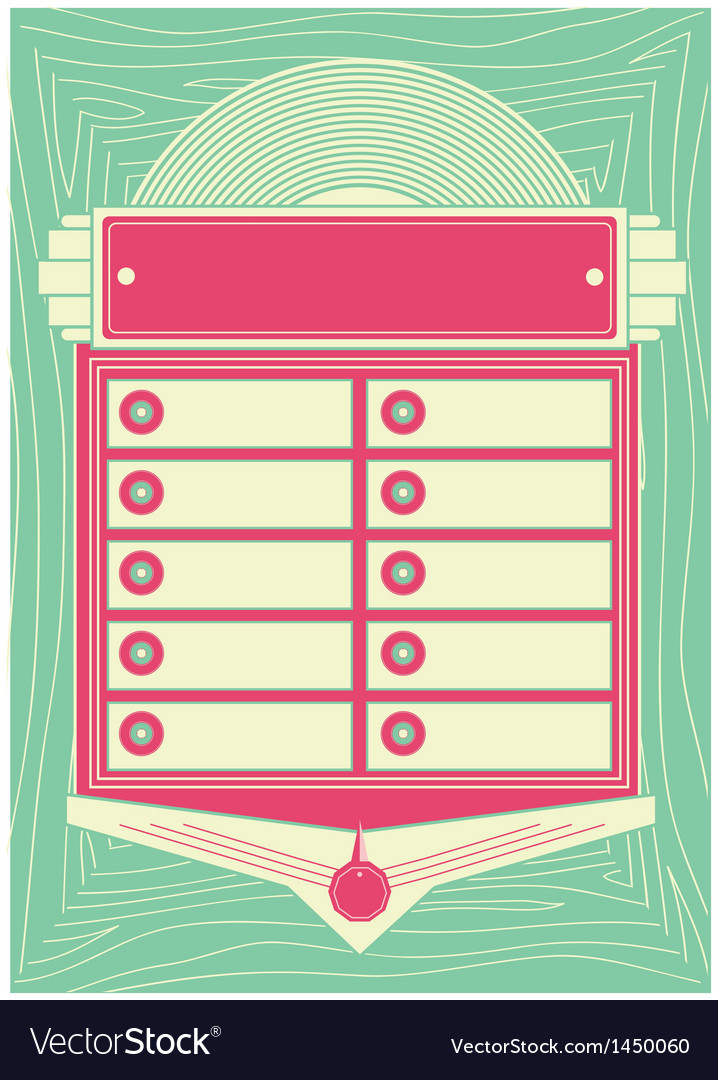 1950s style jukebox background and frame vector | Price: 1 Credit (USD $1)