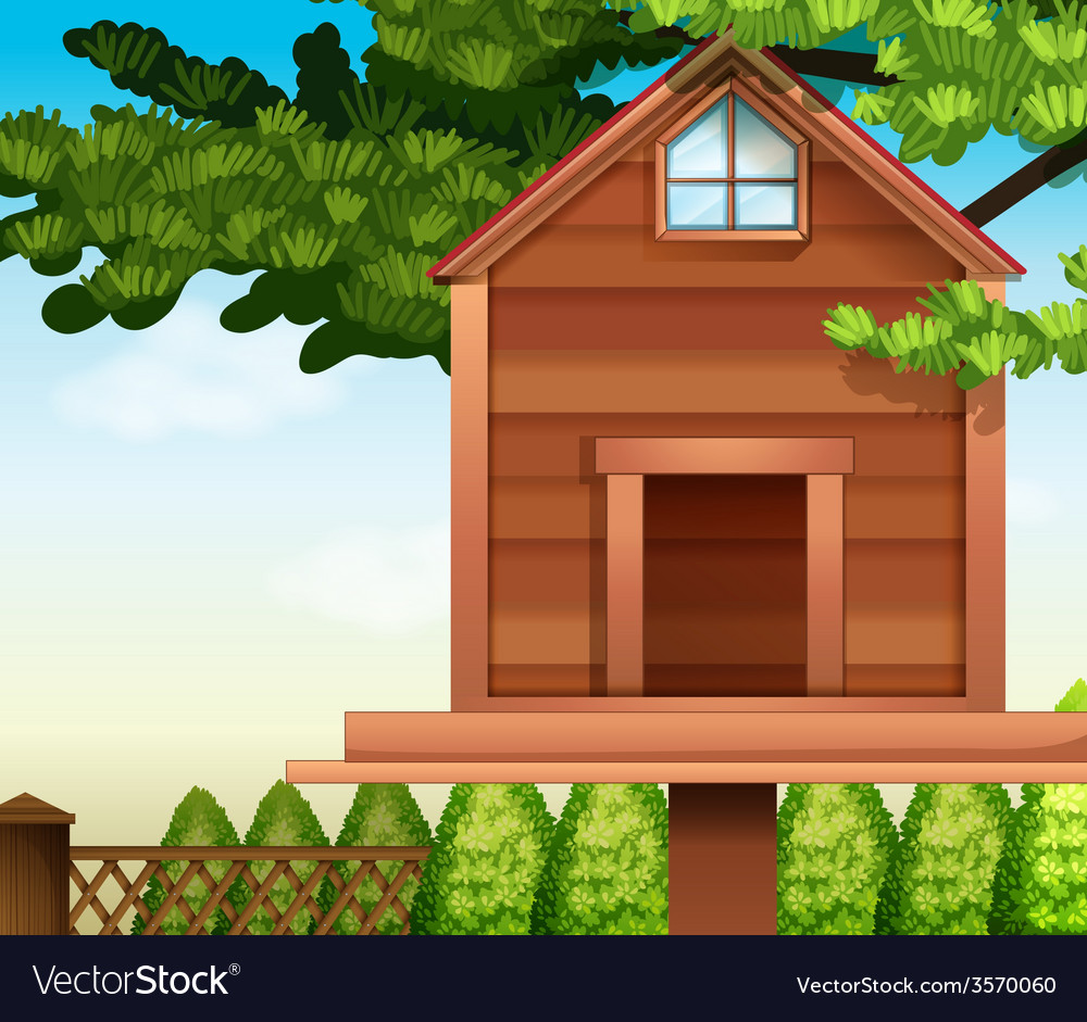 A wooden bird house vector | Price: 3 Credit (USD $3)
