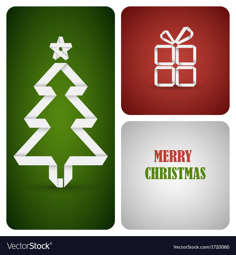 Christmas decoration made from white paper vector   Price: 1 Credit (USD $1)